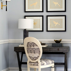 Beach Style Home Office by Noelle Micek Interiors