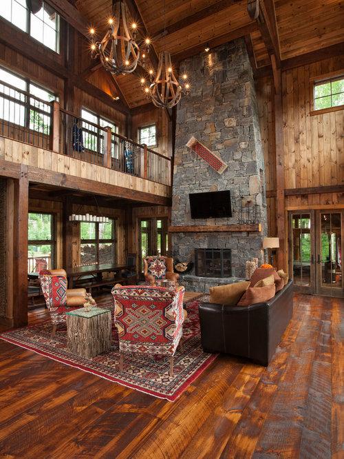 wohnzimmer im loft style mit brauner wandfarbe ideen design bilder beispiele. Black Bedroom Furniture Sets. Home Design Ideas