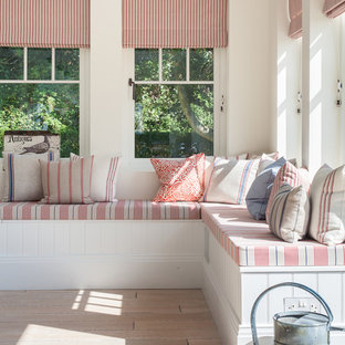 This is an example of a large coastal living room in Sussex.