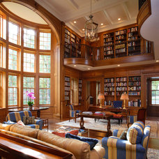 Traditional Living Room by John Milner Architects, Inc.