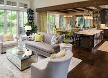 What color brown finish was used on the oak floors
