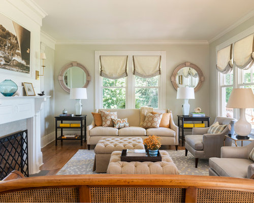 Large windows treatments ideas pictures remodel and decor - Houzz window treatments living room ...