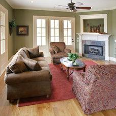 Traditional Living Room by David Clark Construction, LLC