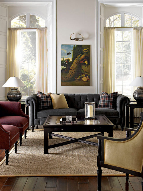 Burgundy Plaid Sofa Home Design Ideas Pictures Remodel
