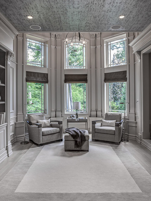 Traditional Grey Living Room Design Ideas Renovations