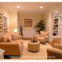 traditional living room by Whitehall Interiors & Home Staging