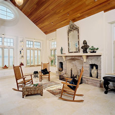 Traditional Living Room by Three Four Builders
