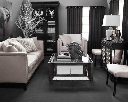 example of a trendy living room design in los angeles save photo z gallerie