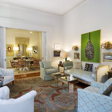 Transitional Living Room by Valorie Hart
