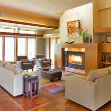 Contemporary Living Room by Blue Hot Design