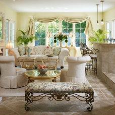 Traditional Living Room by Carol Eyes It Inc.