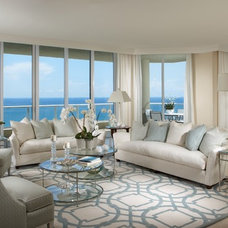 beach style living room by The Decorators Unlimited