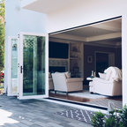Large Glass Area Focuses View To Lagoon Contemporary