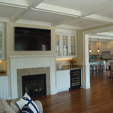 Traditional Living Room by Cape & Island Kitchens