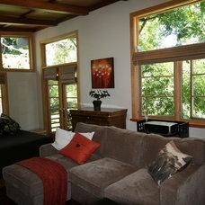 Asian Living Room by Ashford Associates