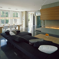 Contemporary Living Room by Kindred Construction Ltd.