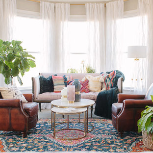 Inspiration for an eclectic living room remodel in Charlotte