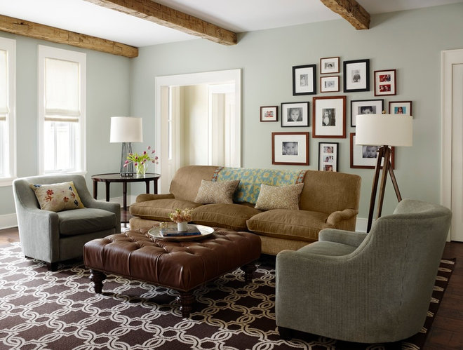 Traditional Living Room by Molly Quinn Design