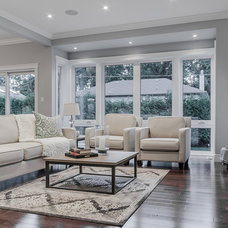 Transitional Living Room by Structured Creations Inc