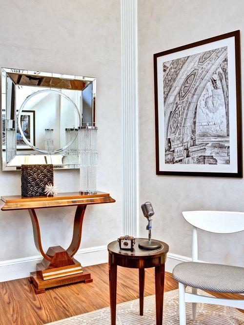 art deco home design. Example of a trendy living room design in Detroit Art Deco Home Decorating  Houzz