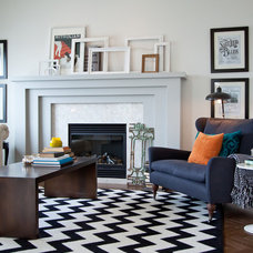 Transitional Living Room by Natalie Fuglestveit Interior Design