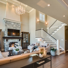 Traditional Living Room by Clay Construction Inc.