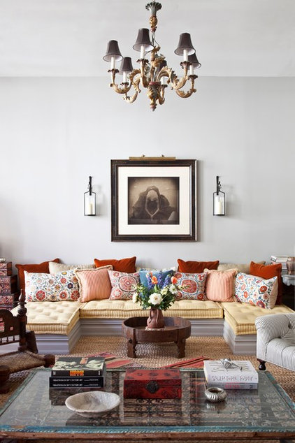 eclectic living room by Deborah French Designs