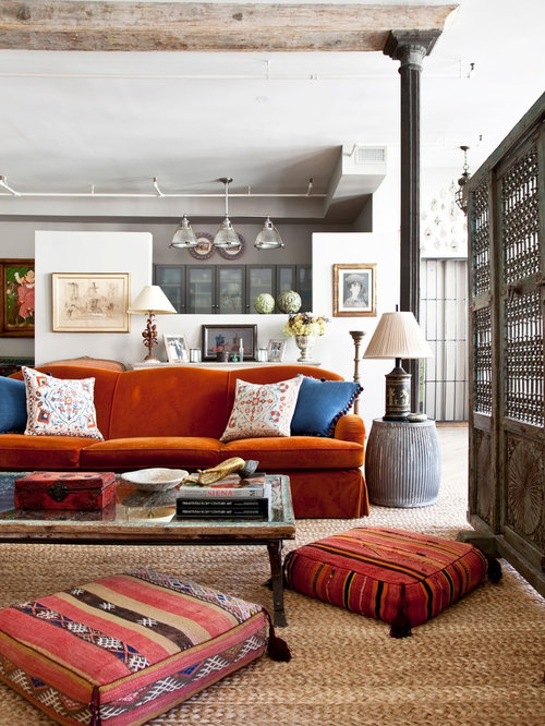 Eclectic Room Design: Bohemian Living Room Home Design Ideas, Pictures, Remodel