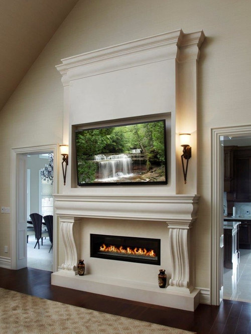 Linear Fireplace Home Design Ideas, Pictures, Remodel And