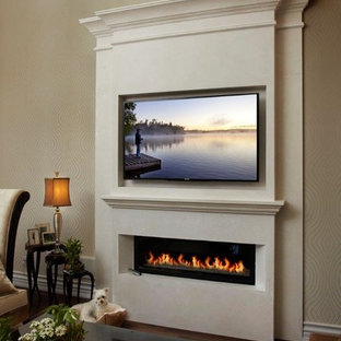 New York linear fireplace mantel