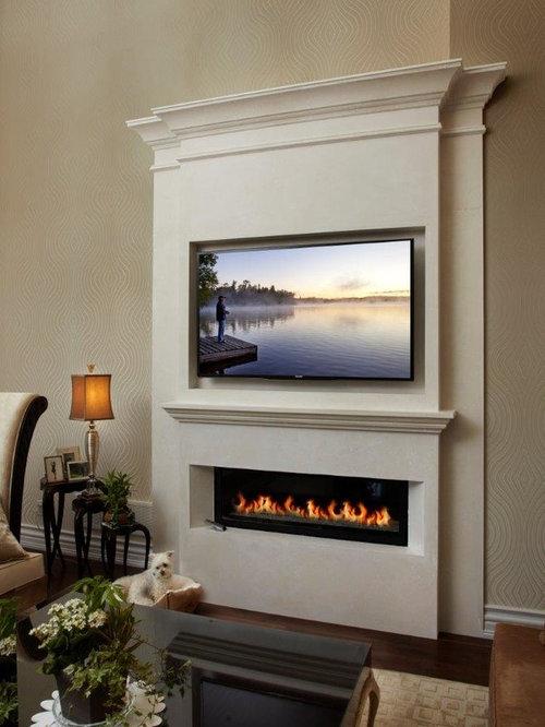 linear fireplace mantle ideas photos houzz. Black Bedroom Furniture Sets. Home Design Ideas