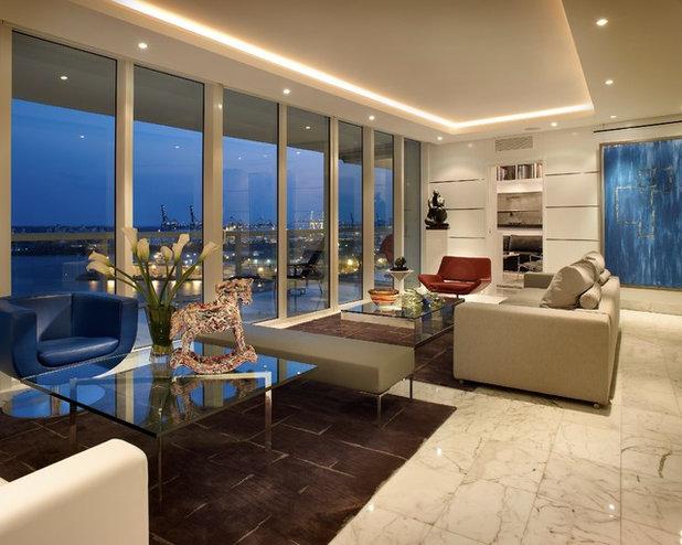 Contemporary Living Room By Pepe Calderin Design  Modern Interior Design
