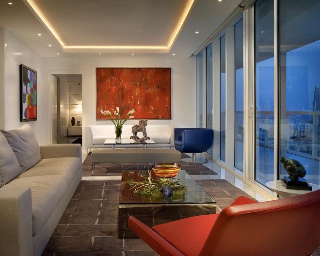 Contemporary Living Room by Pepe Calderin Design- Modern Interior Design