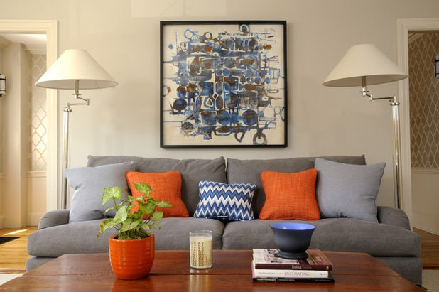 Transitional Living Room by Linda Holt Creative