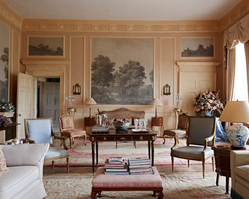 interior design ideas living room traditional. Inspiration For A Traditional Formal Enclosed Living Room In Gloucestershire With Pink Walls. Interior Design Ideas L