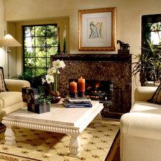 Eclectic Living Room by KK Design Koncepts