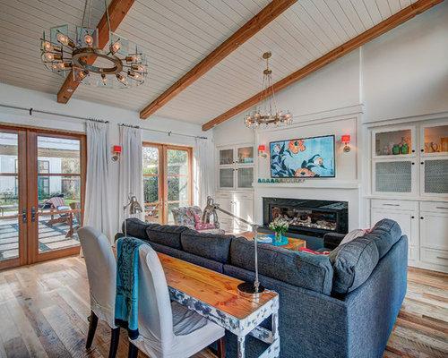 Coastal Living Room Photo In Orange County Part 81
