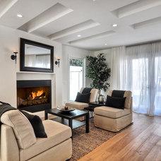 Contemporary Living Room Newport Beach House Renovation
