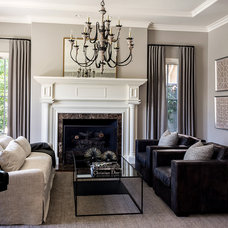 Traditional Living Room by L Design Interiors