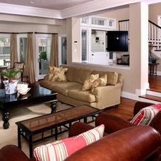 Traditional Living Room by GRADY-O-GRADY Construction & Development, Inc.