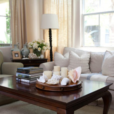 Beach Style Living Room by Jessica Bennett Interiors