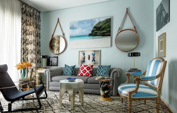 Beach Style Living Room by Rug Resources