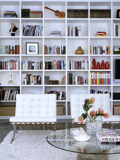 Pictures Of Modern Living Rooms. Mid sized minimalist open concept concrete floor and gray living room  library photo in 25 Best Modern Living Room Ideas Decoration Pictures Houzz