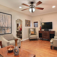 Mediterranean Living Room by Kelli Ellis Interiors, Inc.