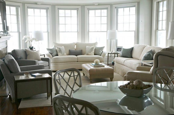 Transitional Living Room by Libby Langdon Interiors, Inc.