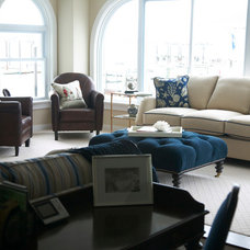 Beach Style Living Room by Libby Langdon Interiors, Inc.