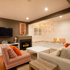 Transitional Living Room by StepUP Constructions