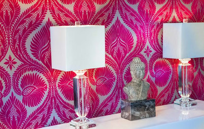 Roll With It: Flocked and Foil Wallpaper Straight Out of the '70s