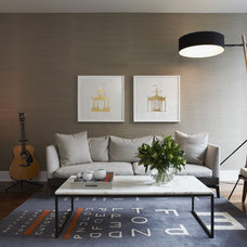 Modern Living Room by Croma Design Inc