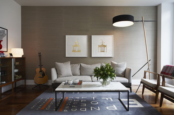 Contemporary Living Room by Croma Design Inc